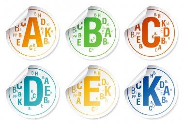 Vitamins stickers.