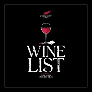 Wine List Menu template.