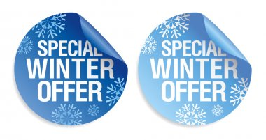 Winter offer stickers.