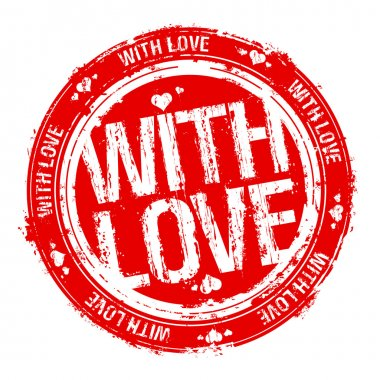 With love vector rubber stamp. clip art vector