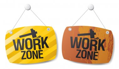 Work zone signs.