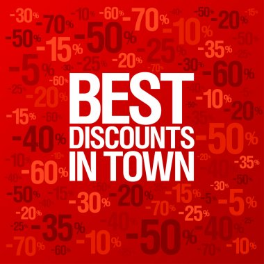Best discounts in town background.