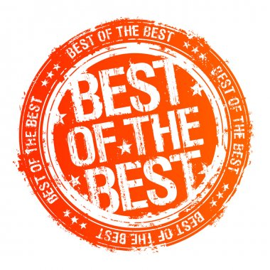 Best of the best rubber stamp. clip art vector