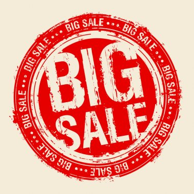 Big sale stamp.