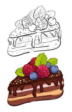 Cartoon slice of cake.
