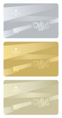 Club card design template.