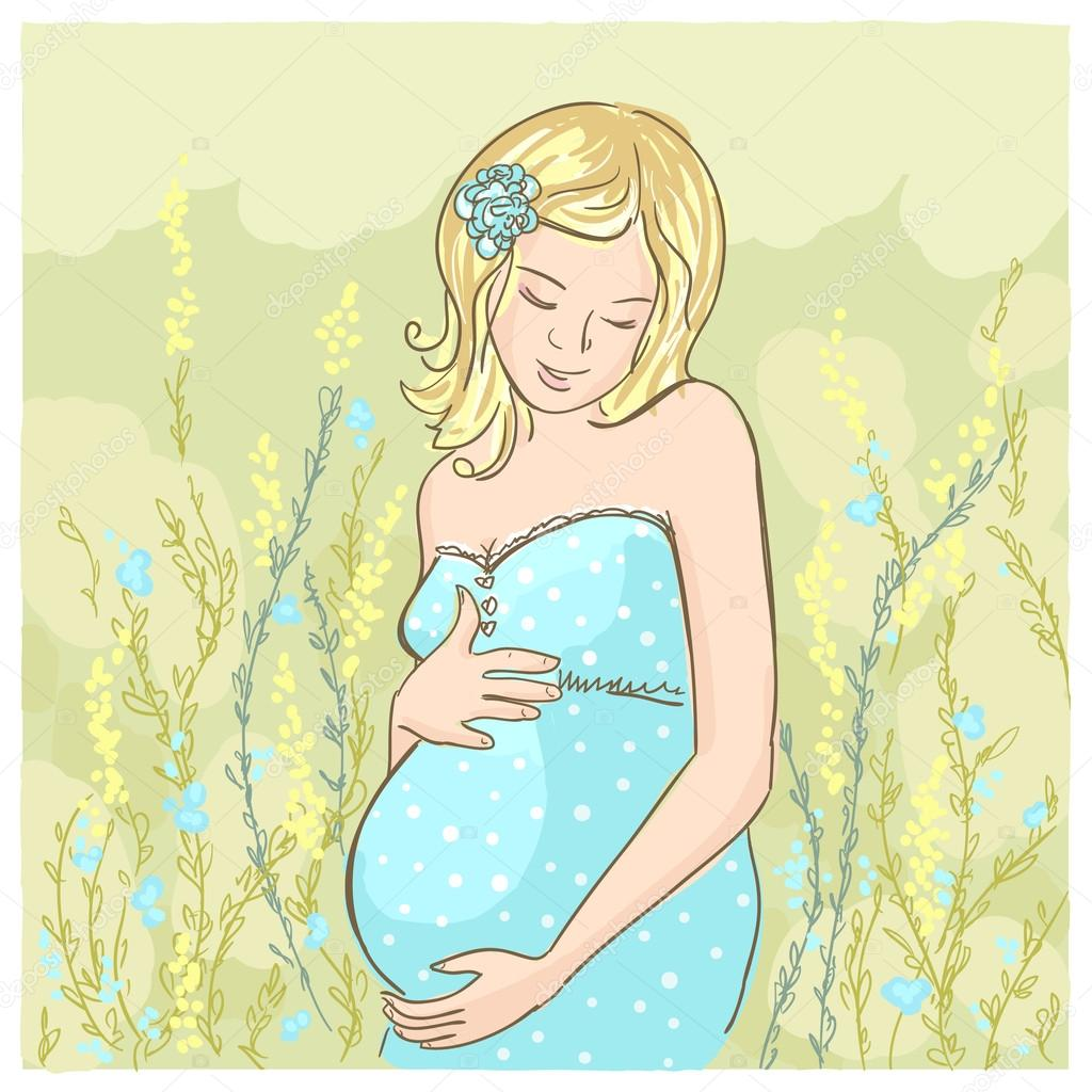 Открытки беременная женщина, днем рождения