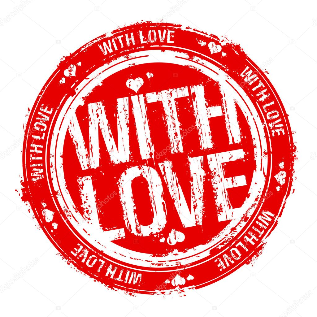 With love vector rubber stamp. clipart vector