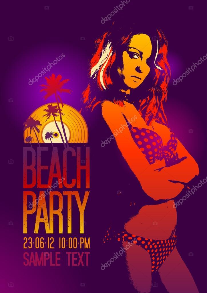 Beach Party design template.