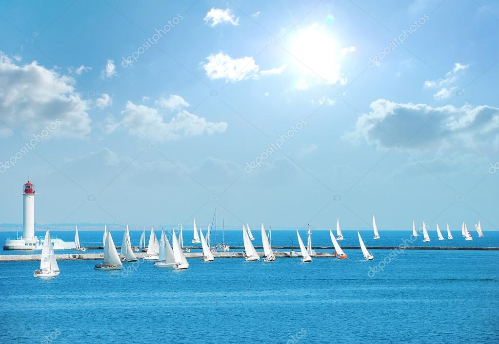 yachts in the regatta