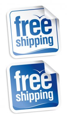 Free shipping stickers.