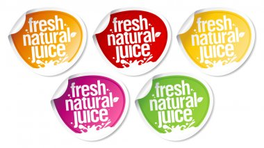 Natural juice stickers.