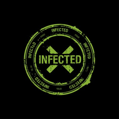 vector stamp, infected