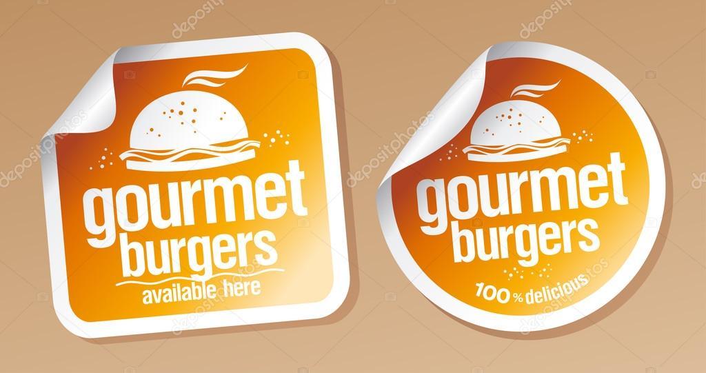 Gourmet burgers stickers.