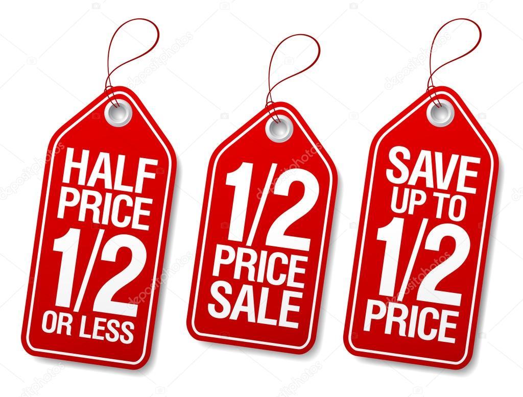 Promotional sale labels.