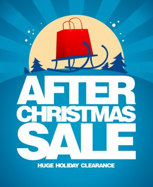 After christmas sale design template.