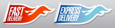 Express delivery stickers.