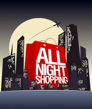 All night shopping design.