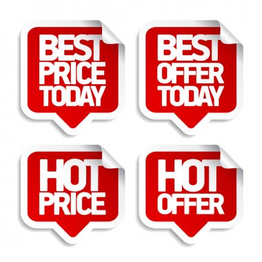 Best hot offers speech bubbles.