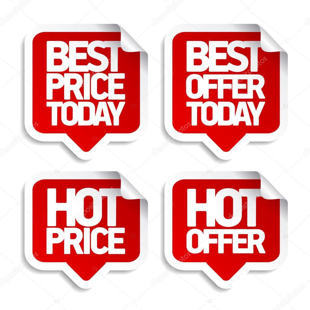 Best hot offers speech bubbles.