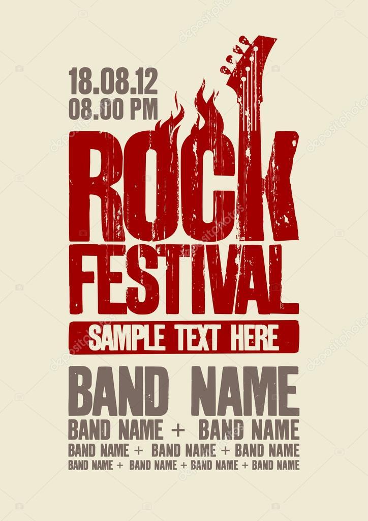 Rock-Festival Design-Vorlage — Stockvektor © slena #18620131