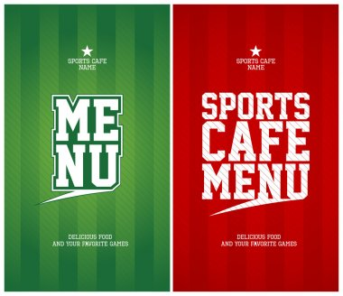 Sports Cafe Menu cards template.