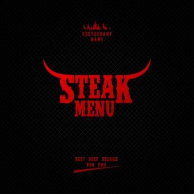 Steak menu.