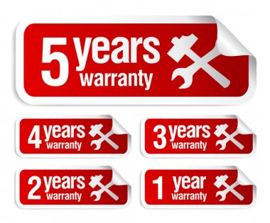 warranty stickers set
