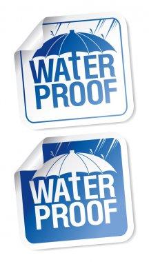 Waterproof stickers.