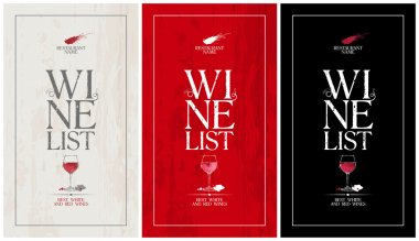 Wine List Menu template.set