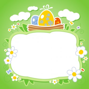 Easter card with frame for photo.
