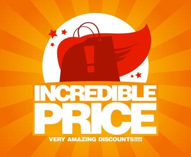 Incredible price, sale design template.