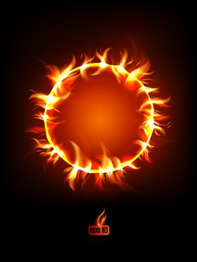 Solar eclipse illustration.
