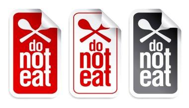 No eating sign.
