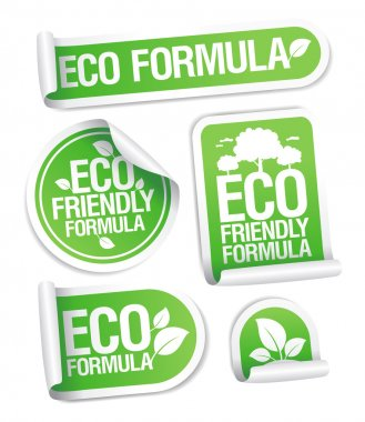 Eco Friendly Formula stickers.