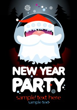 New Year Party design template.