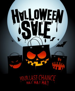 Halloween sale design.
