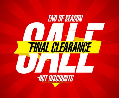 Final clearance sale design