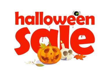 Halloween sale design written in letters of blood.