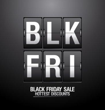 Black friday sale analog flip clock.