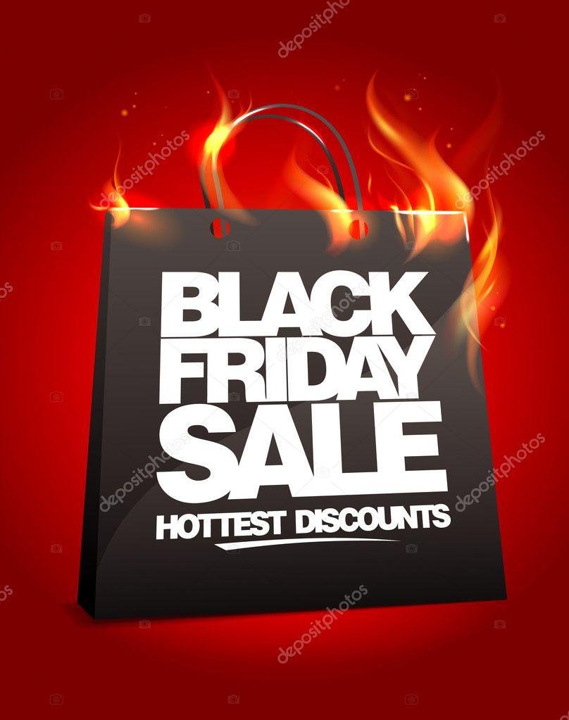 Fiery black friday sale design.