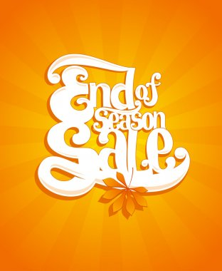 End of autumn season sale typographic illustration.