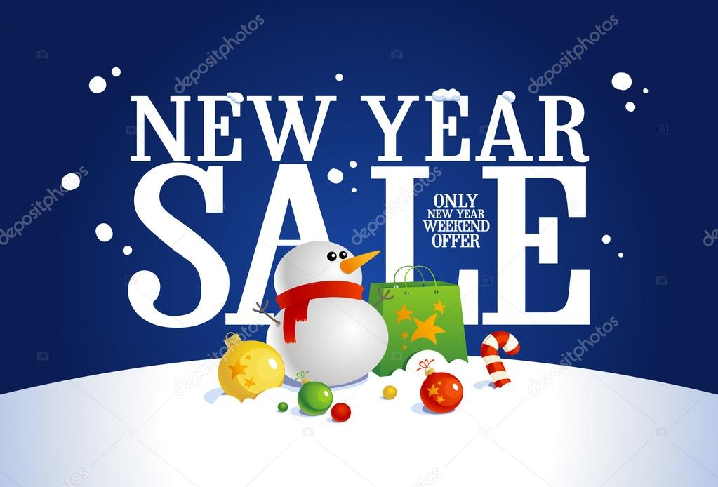 new year sale banner stock vector