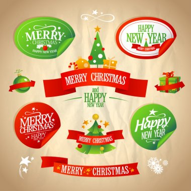 New year and Christmas designs collection.