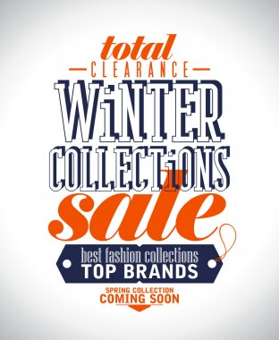 Winter collections sale poster.
