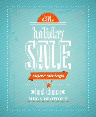 Holiday sale, super savings design.