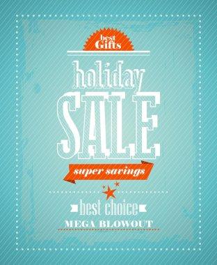 Holiday sale, super savings design.