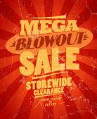 Fotografie Mega Blowout Verkauf, storewide Clearance Design