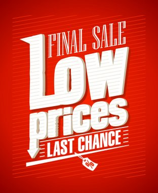 Low prices, final sale design.