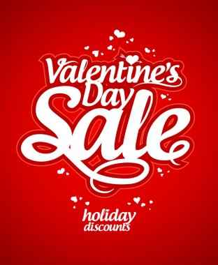 Valentine day sale design template. clip art vector